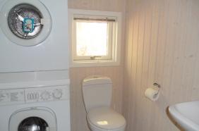 Toilet med vaskesøjle